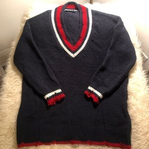 Zara oversized collegiate knit